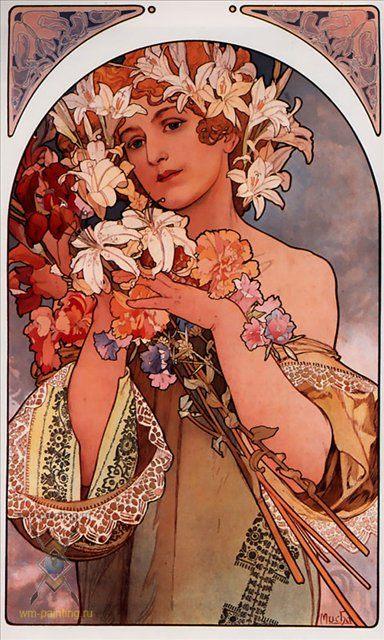 картина Цветок :: Альфонс Муха, плюс пара слов о подарках - Alfons Maria Mucha фото