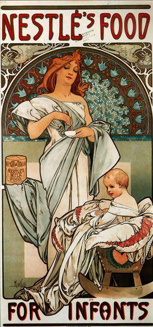 Питание Нестле для малышей :: Альфонс Муха ( Чехия, Чехословакия ) - Alfons Maria Mucha фото