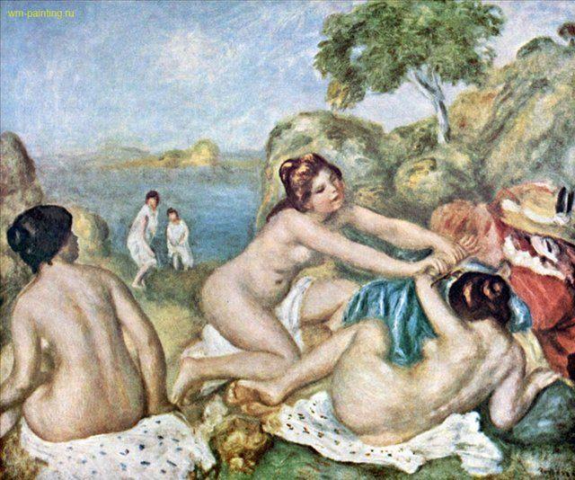 Купальщицы с крабом :: Ренуар Пьер Огюст ( Франция ) - Pierre-Auguste Renoir фото