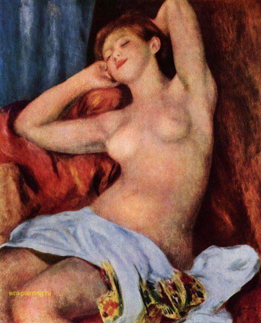 Спящая купальщица :: Ренуар Пьер Огюст ( Франция ) - Pierre-Auguste Renoir фото