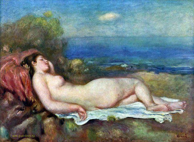 Спящая у моря :: Ренуар Пьер Огюст ( Франция ) - Pierre-Auguste Renoir фото