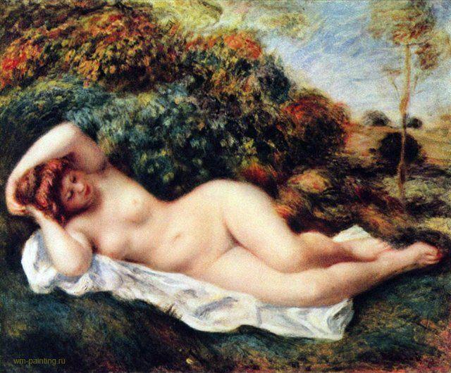 Спящая купальщица (Булочница) :: Ренуар Пьер Огюст ( Франция ) - Pierre-Auguste Renoir фото