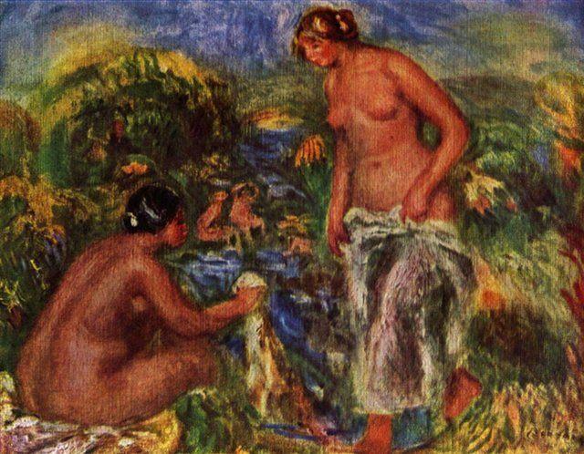 Купальщицы :: Ренуар Пьер Огюст ( Франция ) - Pierre-Auguste Renoir фото