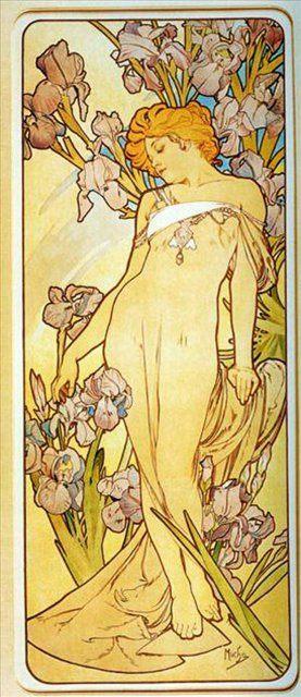 """Из цикла """"Цветы"""" Ирис :: Альфонс Муха ( Чехия, Чехословакия ) - Alfons Maria Mucha фото"""