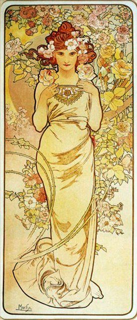 """Из цикла """"Цветы"""" Роза :: Альфонс Муха ( Чехия, Чехословакия ) - Alfons Maria Mucha фото"""