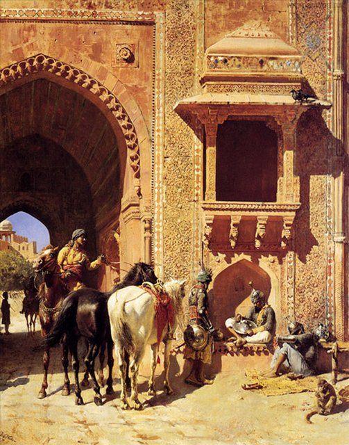 Ворота крепости в Агре (Индия ) :: лорд Едвин Викс - Архитектура фото