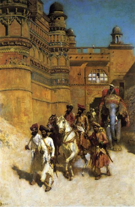 Махараджа и его охрана перед дворцом :: лорд Едвин Викс - Архитектура фото
