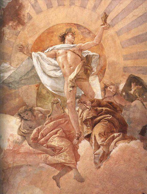 Апполон и континенты ( деталь фрески ) - Фрески, монументальная живопись, роспись стен фото