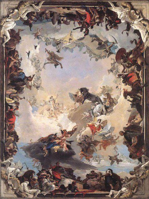Аллегория планет и континентов :: Джованни Баттиста Тьеполо ( Италия ) - Фрески, монументальная живопись, роспись стен фото