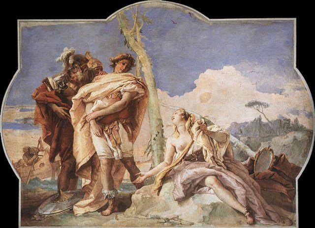 Ринальдо покидает Арминду - Фрески, монументальная живопись, роспись стен фото