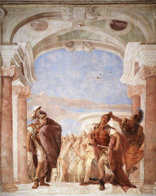 Гнев Ахилла :: Джованни Баттиста Тьеполо ( Италия ) - Фрески, монументальная живопись, роспись стен фото