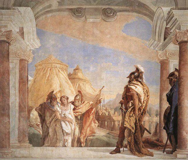 Эврибат и Талфибий, ведущие Брисеиду к Агамемнону - Фрески, монументальная живопись, роспись стен фото