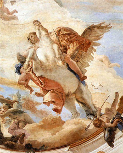 Беллерофонт на Пегасе ( деталь ) - Фрески, монументальная живопись, роспись стен фото