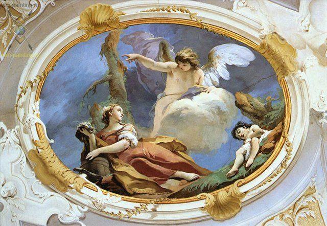 Хагар в Дикой местности :: Джованни Баттиста Тьеполо ( Италия ) - Фрески, монументальная живопись, роспись стен фото
