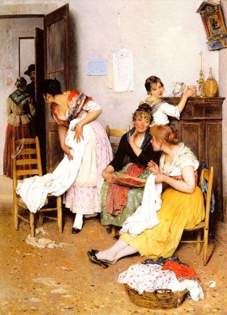 картина Новый заказчик :: Э. де Блаас (Италия) - Романтические сюжеты в живописи фото