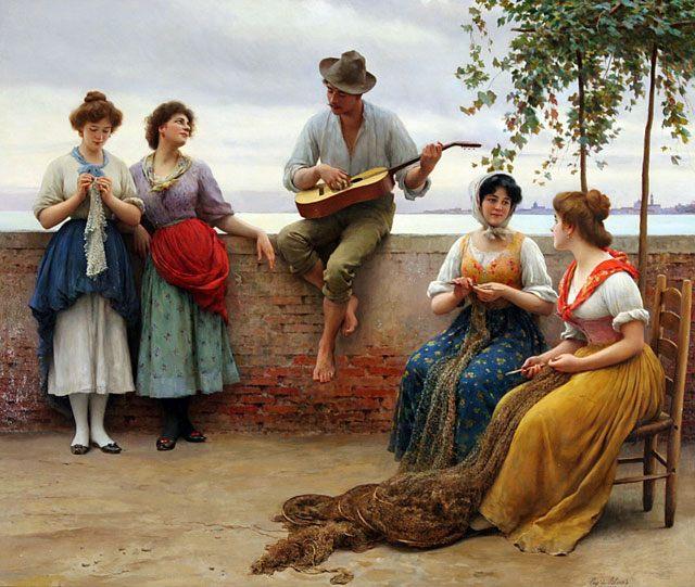 картина <Серенада> :: Э. де Блаас - Романтические сюжеты в живописи фото