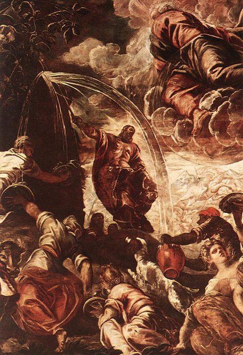 Моисей, добывающий воду из скалы :: Якопо Тинторетто - Библейские сюжеты в живописи фото