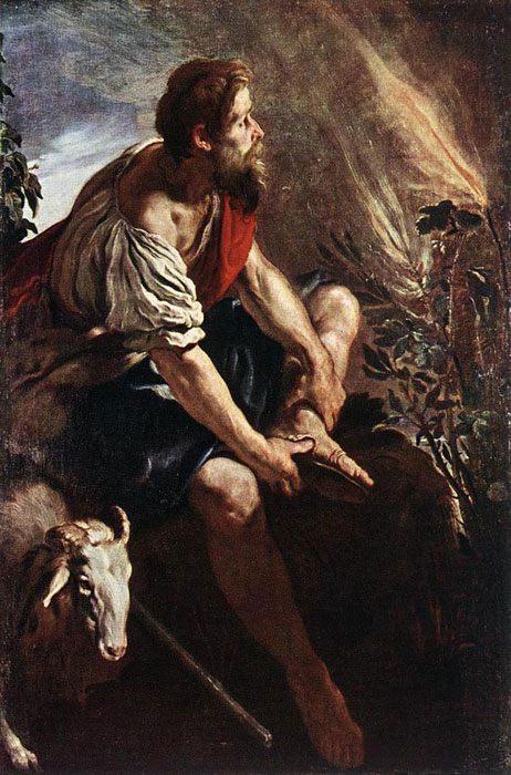 картина Моисей перед пылающим кустом  :: Доменико Фети - Библейские сюжеты в живописи фото