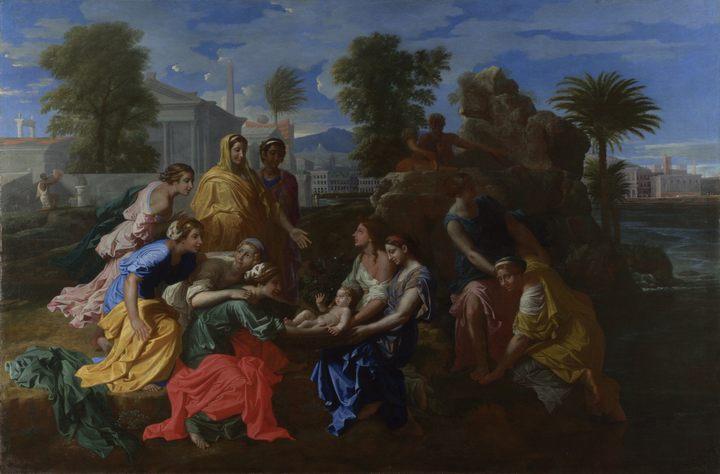 Обнаружение ( находка ) Моисея :: Пуссен Николя - Библейские сюжеты в живописи фото