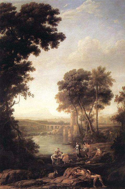 картина Пейзаж с обретённым Моисеем :: Клод Лоррейн - Библейские сюжеты в живописи фото