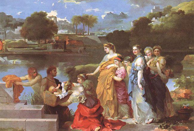 картина Обретение Моисея :: Себастьян Бурдон - Библейские сюжеты в живописи фото