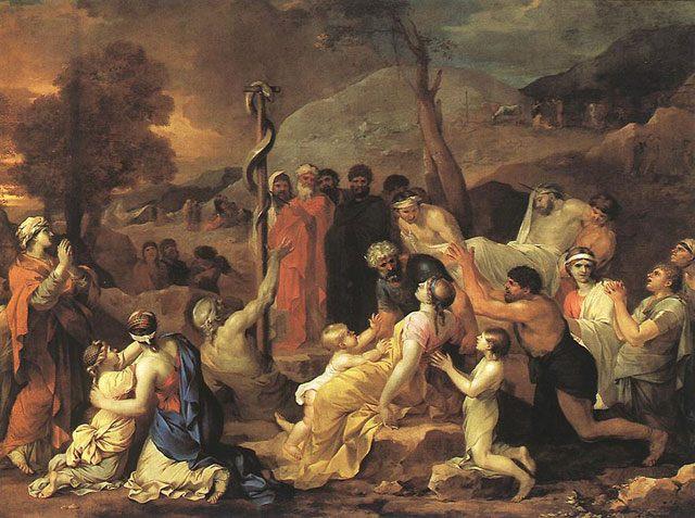 картина <Моисей устанавливает идол змея> :: Себастян Бурдон - Библейские сюжеты в живописи фото