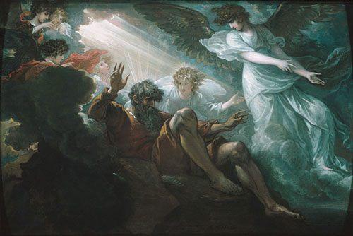 Моисей видит землю обетованную :: Бенджамин Уест ( Вест ) - Библейские сюжеты в живописи фото