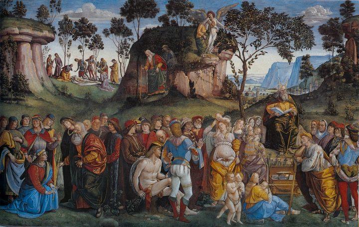 последние эпизоды в жизни Моисея :: Синьорелли Лука - Библейские сюжеты в живописи фото
