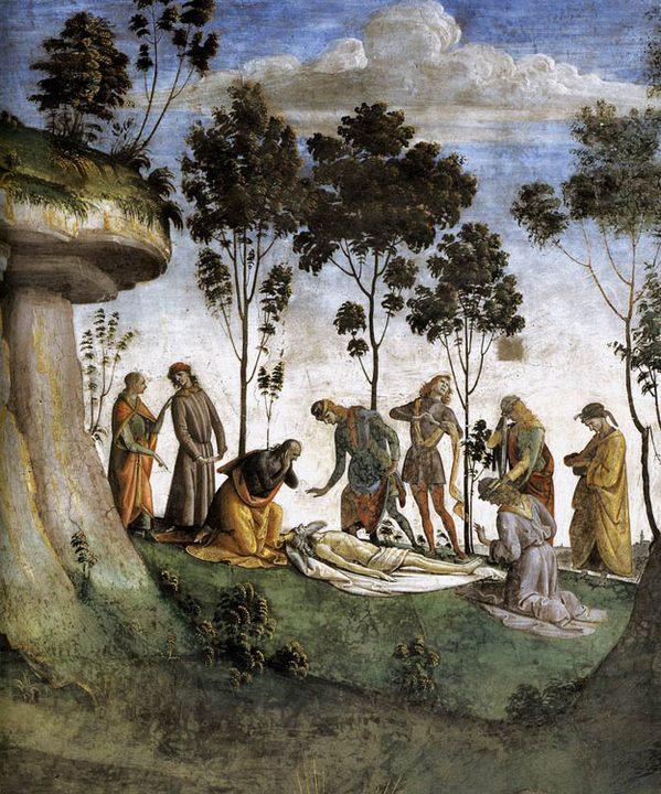 Завещание и смерть Моисея :: Синьорелли Лука - Библейские сюжеты в живописи фото