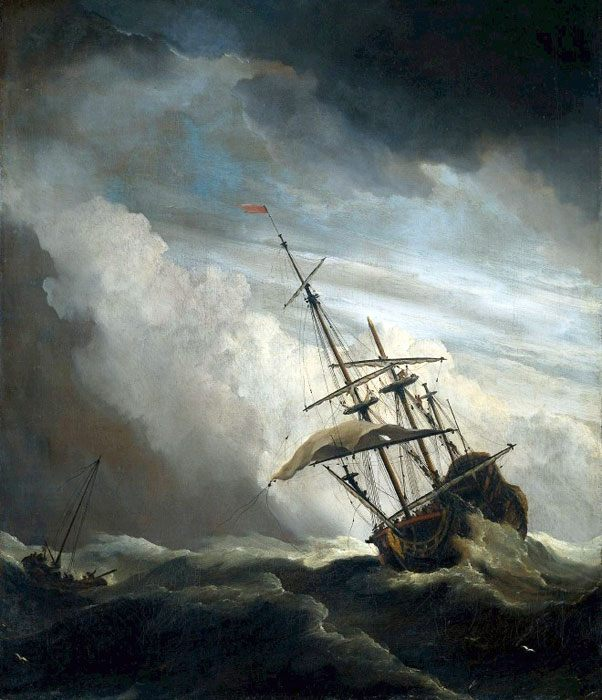 Виллем ван де Вельде ( Ниделанды ) [ Вильям, Уильям ван де Вельде ] - Море в живописи ( морские пейзажи, seascapes ) фото