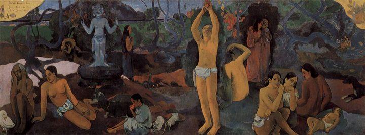 Откуда мы пришли Кто мы Куда мы идём :: Поль Гоген, описание картины - Paul Gauguin фото