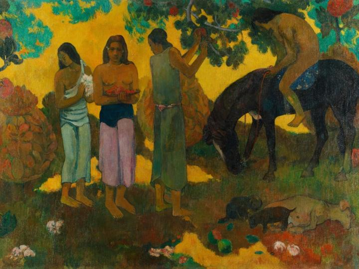 Rupe Rupe (Сбор плодов) [ пейзаж ] - Paul Gauguin фото