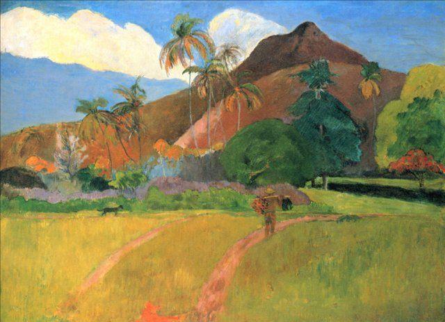 пейзаж <Горы на Таити > :: Поль Гоген - Paul Gauguin фото