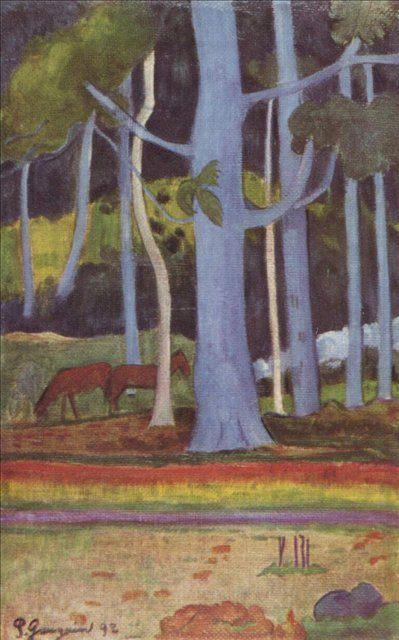 Пейзаж на Таити  :: Поль Гоген - Paul Gauguin фото