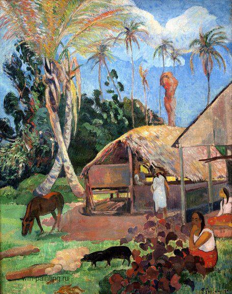 пейзаж Атуана ( Маркизские острова ) < Чёрные боровы  > :: Поль Гоген - Paul Gauguin фото