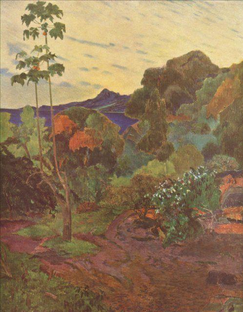 пейзаж Мир тропических растений (Таити) :: Поль Гоген - Paul Gauguin фото