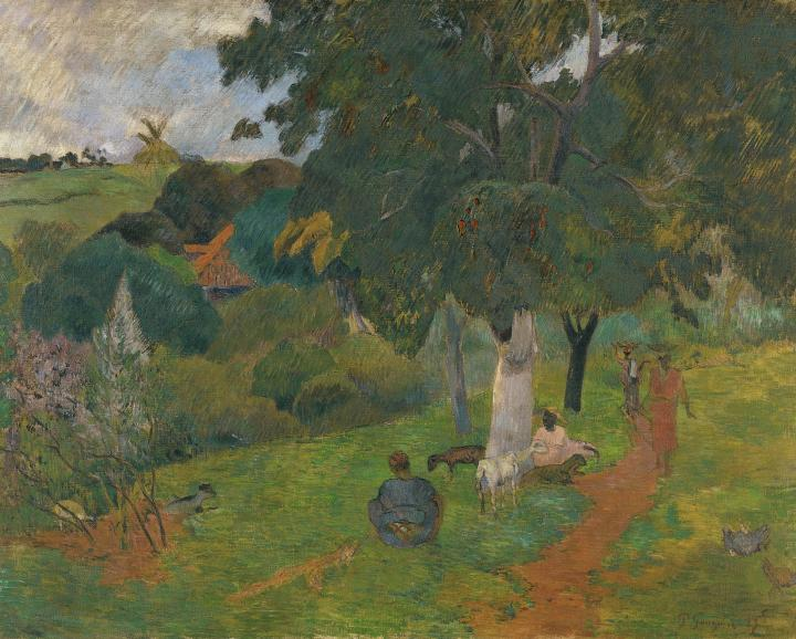 пейзаж <  Приход и уход  > :: Поль Гоген - Paul Gauguin фото