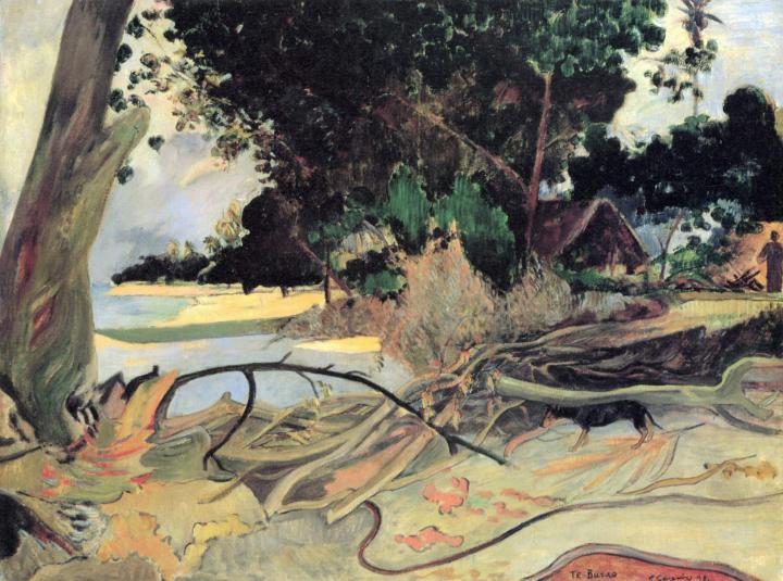 пейзаж < Толстое дерево (Te burao)  > :: Поль Гоген - Paul Gauguin фото