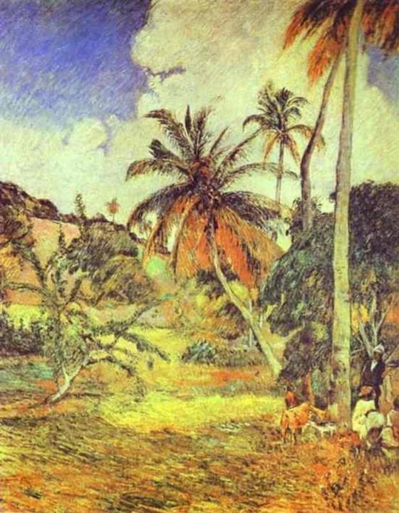 пейзаж < Пальмы на Мартинике > :: Поль Гоген - Paul Gauguin фото