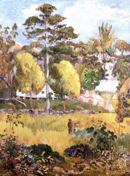 Пейзаж с деревьями (Мартиника?) ::  Гоген Поль - Paul Gauguin фото