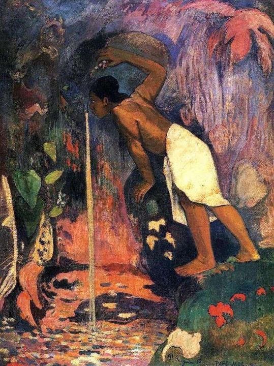 """пейзаж """"Таинственный источник (Pape moe)"""" :: Поль Гоген - Paul Gauguin фото"""