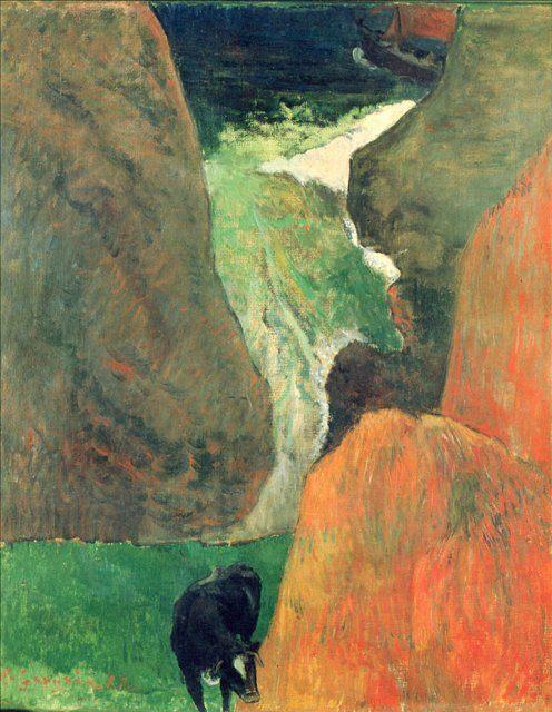 пейзаж <Над пропастью > :: Поль Гоген - Paul Gauguin фото
