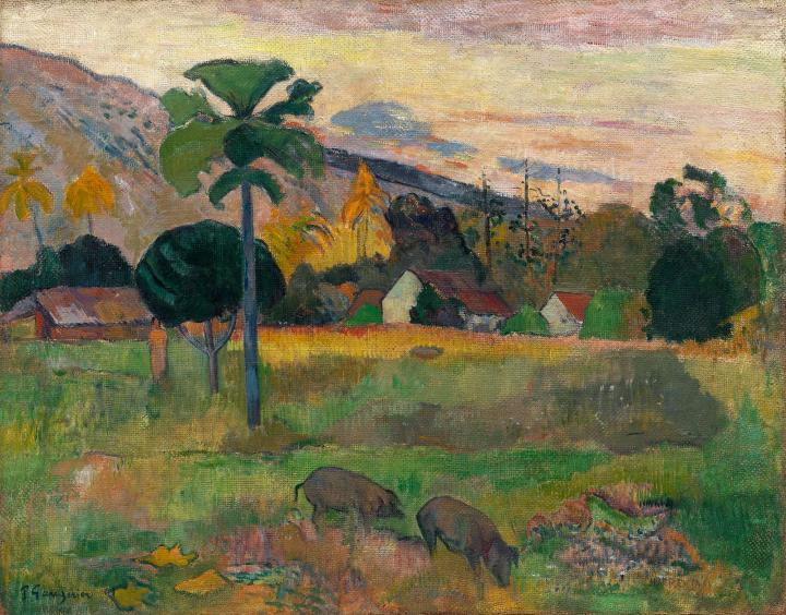 пейзаж <  Haere mai venezi ( Идите сюда )  > :: Поль Гоген - Paul Gauguin фото