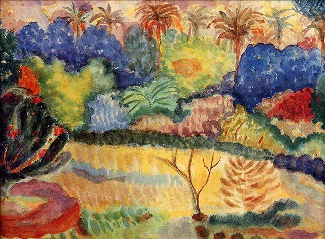 Таитянский пейзаж :: Поль Гоген - Paul Gauguin фото