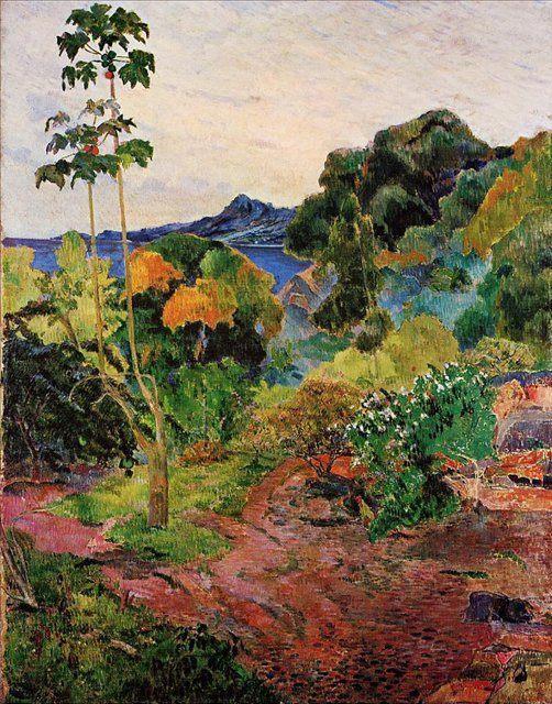 Тропические растения :: Поль Гоген ( картина, пейзаж ) - Paul Gauguin фото