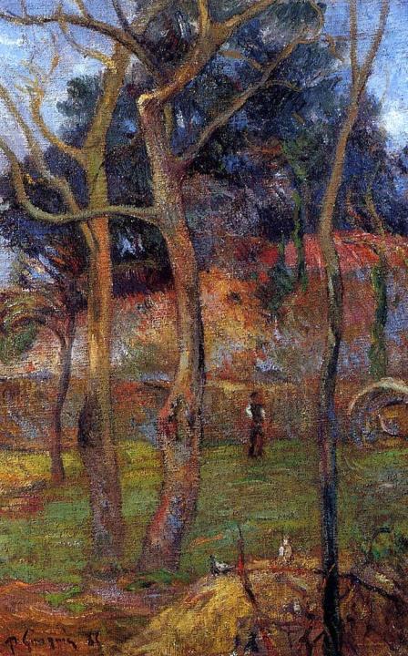 пейзаж Голые Деревья :: Поль Гоген - Paul Gauguin фото