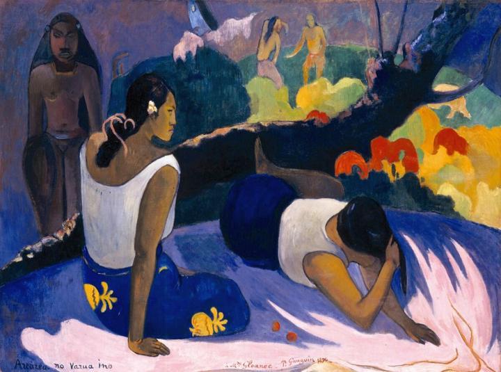 картина  < Arearea no varua ino ( Забава злого духа )  > :: Поль Гоген - Paul Gauguin фото