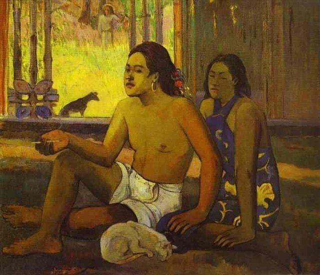 картина Eilaha Ohipa (Праздность/Таитяне в комнате) :: Поль Гоген - Paul Gauguin фото