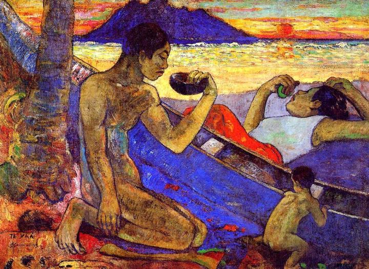 жанровая картина  Te Vaa <  Каноэ > :: Поль Гоген - Paul Gauguin фото
