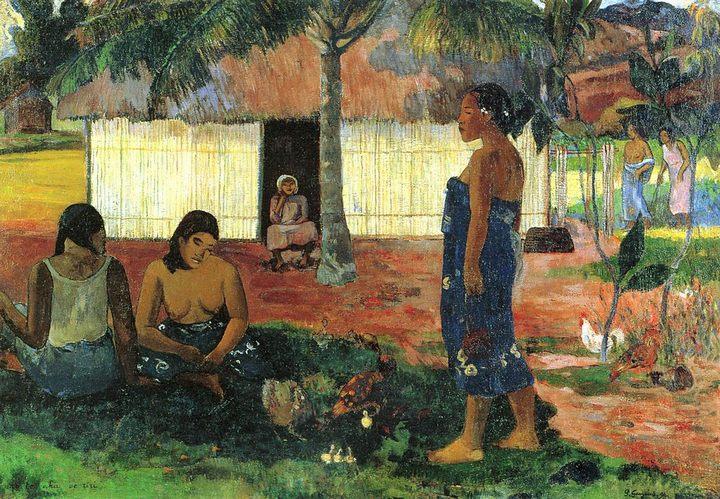 жанровая картина No te aha oe riri (Почему ты злишься?) :: Поль Гоген - Paul Gauguin фото
